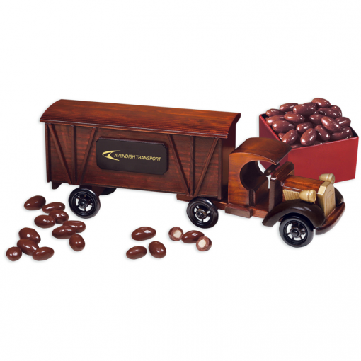1920 Tractor-Trailer Truck with Chocolate Almonds