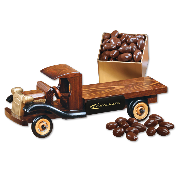 1930-Era Flat Bed Truck with Chocolate Almonds