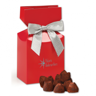 Cocoa Dusted Truffles in Red Gift Box
