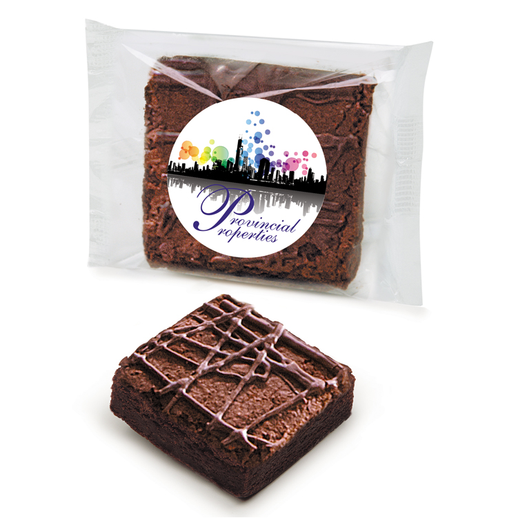Custom Labeled Double Chocolate Brownie