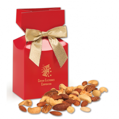 Deluxe Mixed Nuts in Red Gift Box