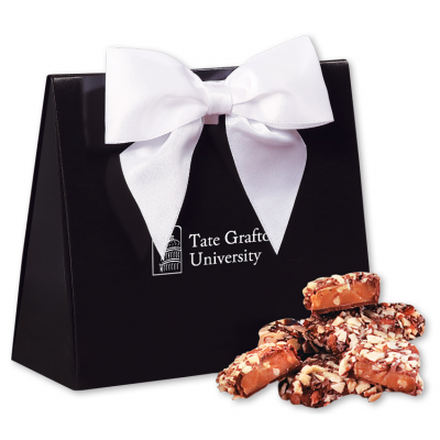 English Butter Toffee in Black & White Triangular Gift Box