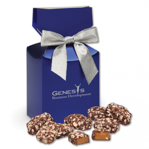 English Butter Toffee in Metallic Blue Gift Box