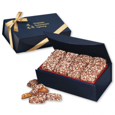 English Butter Toffee in Navy Magnetic Closure Gift Box