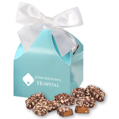 English Butter Toffee in Robin's Egg Blue Gift Box