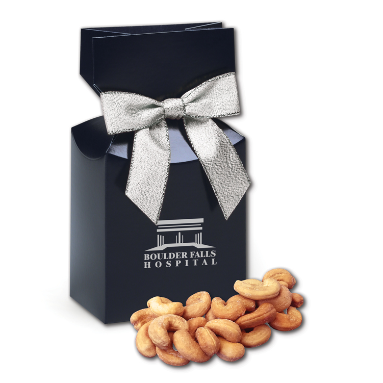 Extra Fancy Jumbo Cashews in Navy Gift Box
