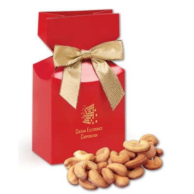 Extra Fancy Jumbo Cashews in Red Gift Box