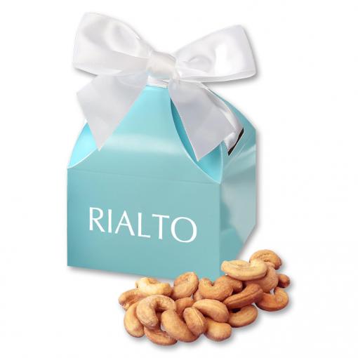 Extra Fancy Jumbo Cashews in Robin's Egg Blue Gift Box