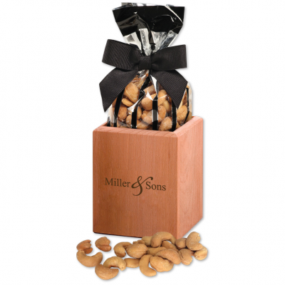 Hardwood Pen & Pencil Cup with Extra Fancy Jumbo Cashews