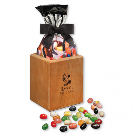 Hardwood Pen & Pencil Cup with Gourmet Jelly Beans