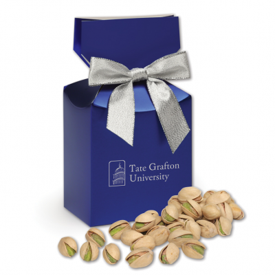 Jumbo California Pistachios in Metallic Blue Gift Box
