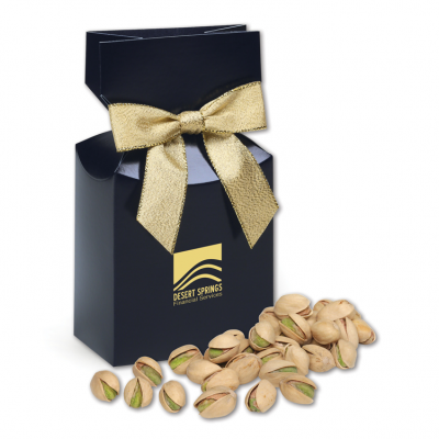 Jumbo California Pistachios in Navy Gift Box