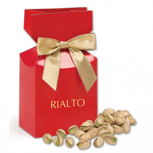 Jumbo California Pistachios in Red Gift Box