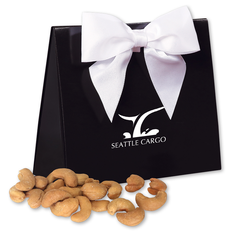 Jumbo Cashews in Black & White Triangular Gift Box