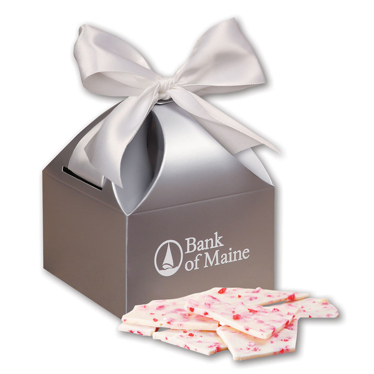 Peppermint Bark in Silver Gift Box
