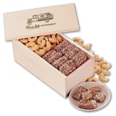 Toffee & Jumbo Cashews in Wooden Collector's Box