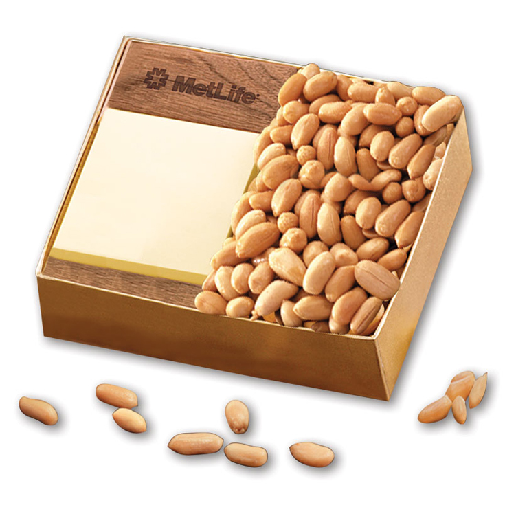Walnut Post-it® Note Holder with Choice Virginia Peanuts