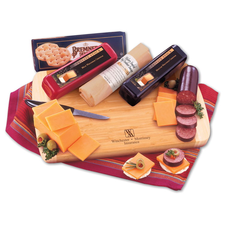 Wisconsin Variety Package with Bamboo Cutting Board