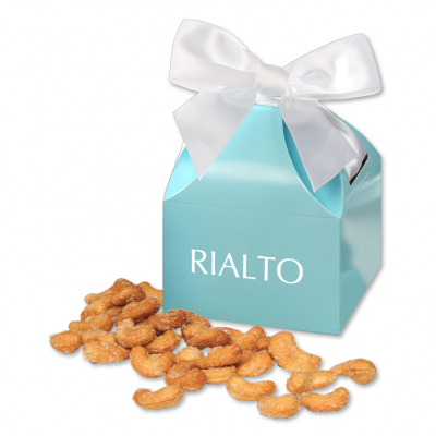 Honey Roasted Cashews in Robin's Egg Blue Gift Box