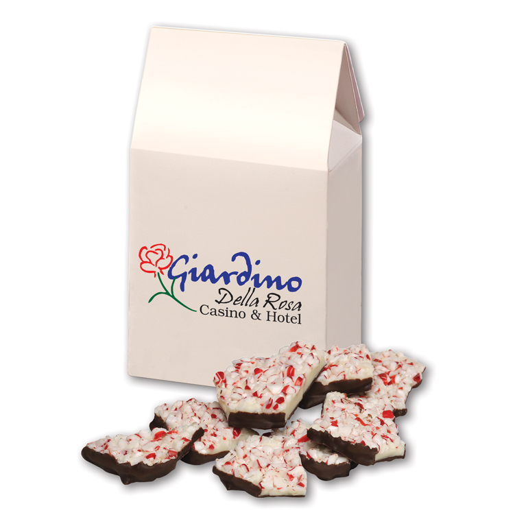 Peppermint Bark in White Gable Box