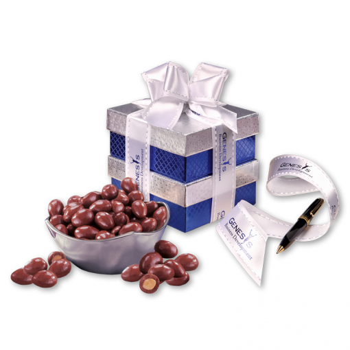 Rombe™ Four-Point Bowl with Chocolate Covered Almonds