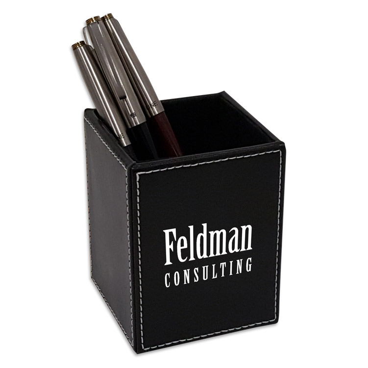 Faux Leather Pen & Pencil Cup