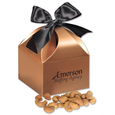 Extra Fancy Jumbo Cashews in Copper Gift Box