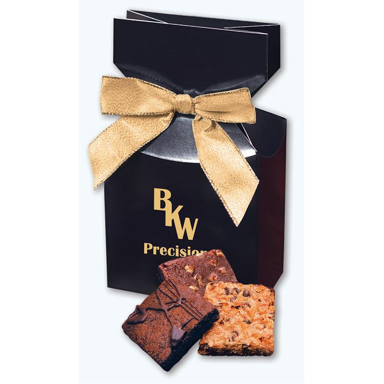 Gourmet Brownies in Navy Gift Box