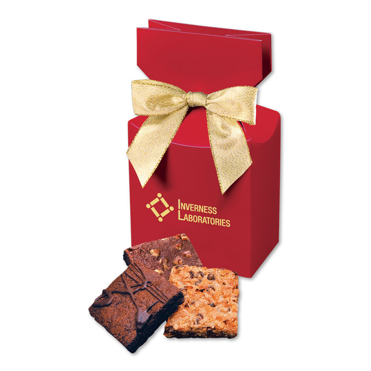 Gourmet Brownies in Red Gift Box
