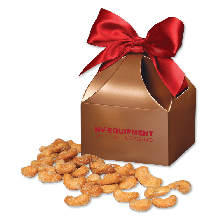 Honey Roasted Cashews in Copper Gift Box
