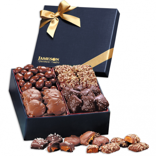 Navy Chocolate Elegance