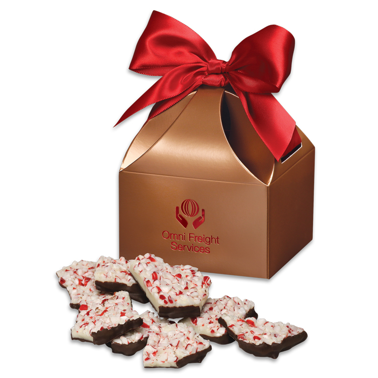 Peppermint Bark in Copper Gift Box