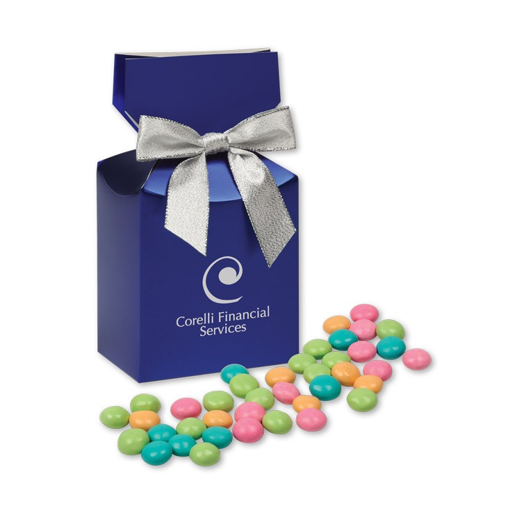 Chocolate Gourmet Mints in Metallic Blue Gift Box