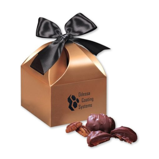 Pecan Turtles in Copper Gift Box