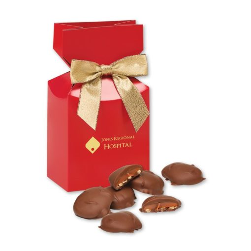 Pecan Turtles in Red Gift Box