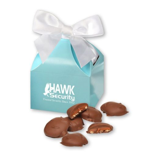 Pecan Turtles in Robin's Egg Blue Gift Box