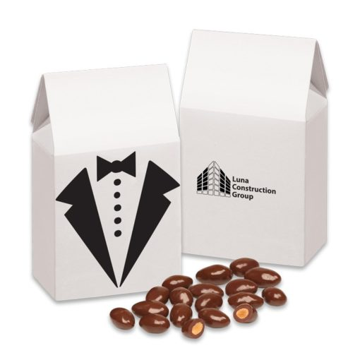 Chocolate Covered Almonds in Tuxedo Gift Box
