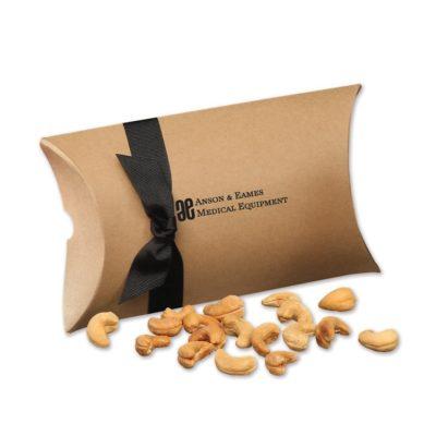 Extra Fancy Jumbo Cashews in Kraft Pillow Pack Box