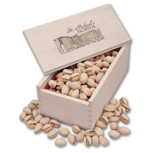 Jumbo California Pistachios in Wooden Collector's Box
