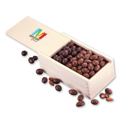 Milk & Dark Chocolate Covered Almonds with Full Color Imprint