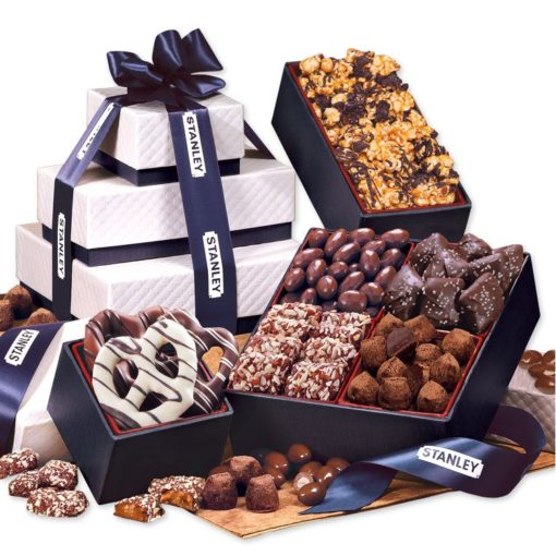 Navy Pillow Top Tower of Sweets