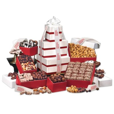 Park Avenue Tower of Chocolate in Red