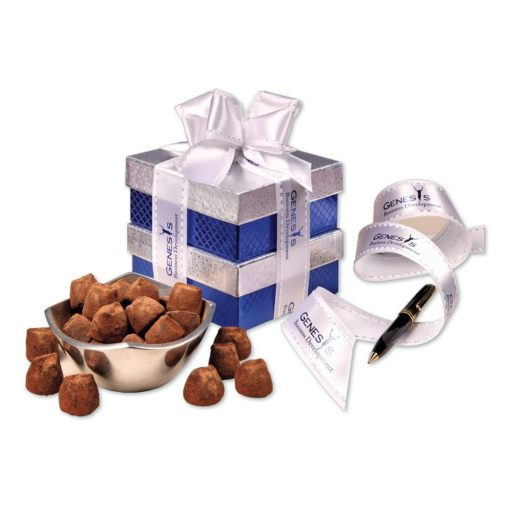Rombe™ Four-Point Bowl with Cocoa Dusted Truffles
