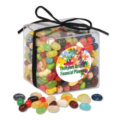 Stylish Acetate Cube with Jelly Belly® Jelly Beans