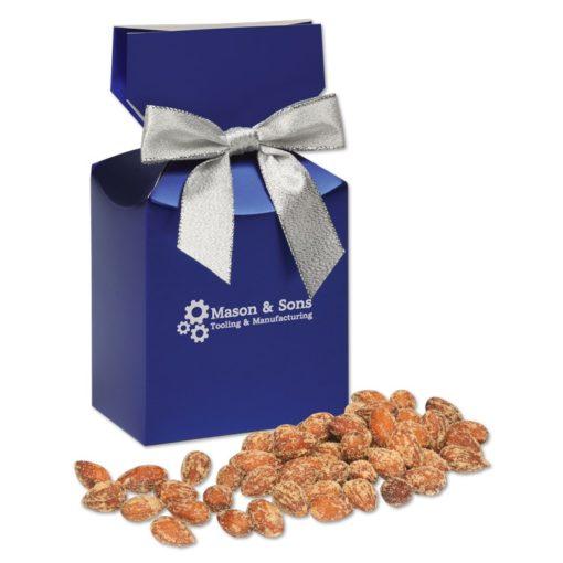 BBQ Smoked Almonds in Metallic Blue Gift Box