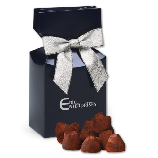 Cocoa Dusted Truffles in Navy Gift Box