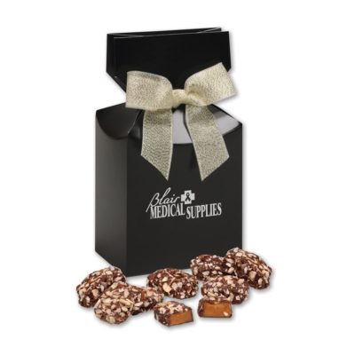 English Butter Toffee in Black Gift Box