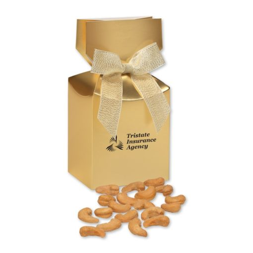 Extra Fancy Jumbo Cashews in Gold Gift Box