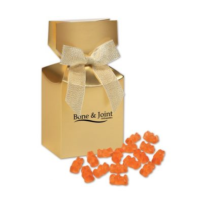 Prosecco Gummy Bears in Gold Gift Box