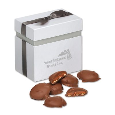 Pecan Turtles in Elegant Treats Gift Box